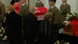 pologne cercueils président et sa femme public