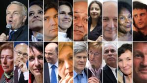 Le Premier ministre Jean-Marc Ayrault et ses 18 ministres gouvernement trombi trombinoscope (montage TF1 News)