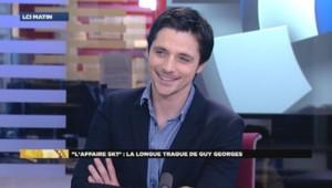 Raphaël Personnaz sur le plateau de LCI, le 7 janvier 2015.