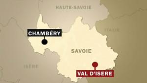 Carte Val d'Isère. Savoie