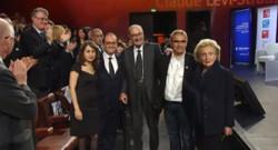 Jacques Chirac, François Hollande et Bernadette Chirac, le 21 novembre, remise de prix de la Fondation CHirac