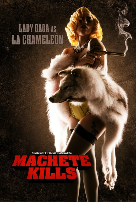 Lady GaGa dans Machette Kills. Un film de Robert Rodriguez.