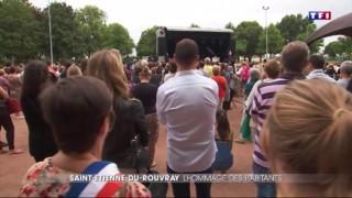 Saint-Etienne-du-Rouvray : émotion palpable à la cérémonie rendue en hommage au Père Hamel