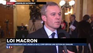 """François De Rugy : """"Les députés écologistes appelent à voter contre la motion de censure"""""""