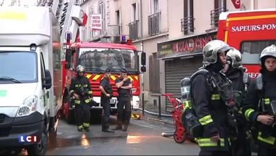 Incendie rue Myrha à Paris : l'immeuble porte les stigmates du feu après l'intervention des pompiers