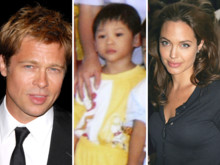Brad Pitt, Pax-Thien et Angelina Jolie