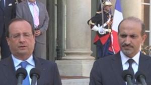 François Hollande et Ahmad Jarba, à l'Elysée, le 29/8/13