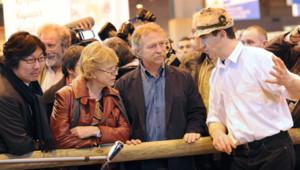 Les écologistes Jean-Vincent Placé, Eva Joly et José Bové au Salon de l'agriculture à Paris en février 2012 (illustration).