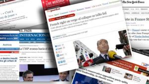 Crise à l'UMP : captures d'écran de différents sites Internet de la presse étrangère