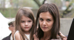 Katie Holmes et sa fille Suri à New York en avril 2010