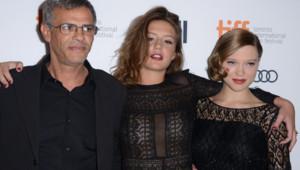Léa Seydoux, Adèle Exarchopoulos et Abdellatif Kechiche à Toronto le 5 septembre 2013