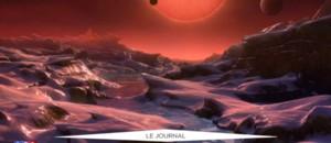 Les trois exoplanètes découvertes lundi gravitent autour d'un soleil nain