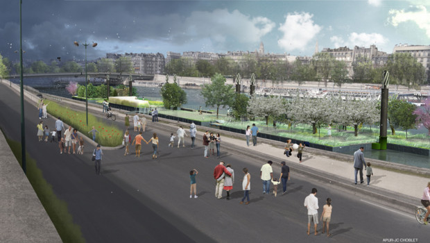 Projet d'aménagement des berges de Seine