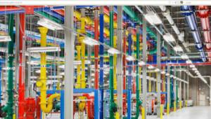 Capture du site de Google dévoilant les photos des centre de données du géant de l'internet. http://www.google.com/about/datacenters/gallery/#/all