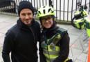 David Bekcham et la secouriste londonienne Catherine Maynard