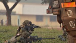 Militaire Français, à Bangui, en Centrafrique.