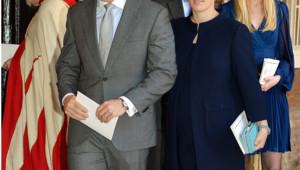 Zara Philips et son mari Mike Tindall au baptême du prince George