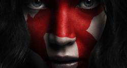 Affiche de Hunger Games : la révolte 2 avec le portrait de Katniss