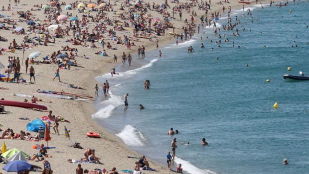 La plage d'Argelès-sur-Mer – juin 2012