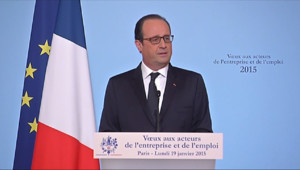 """Le 13 heures du 19 janvier 2015 : François Hollande appelle les partenaires sociaux à être """"à la hauteur"""" - 641.374"""