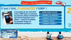 """TF1 / LCI Opération """"Podcastez l'UMP"""" lors de l'Université d'été 2006 du parti"""