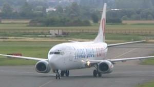 L'arrivée d'un vol Atlas Blue à Lille après 26 heures de retard (20 juillet 2008)