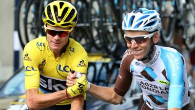 Chris Froome et Romain Bardet, le 24/07/16