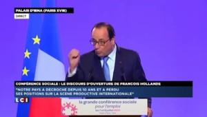 """Conférence sociale : """"Nous sommes dans un moment particulièrement grave"""" affirme François Hollande"""