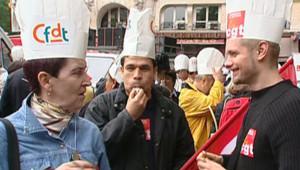 TF1/LCI : Manifestation de salariés de la restauration