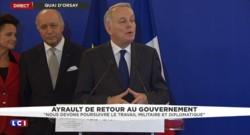 """Ayrault espère """"conforter la puissance et le rayonnement de la France"""""""