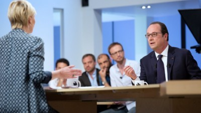 François Hollande sur le plateau du Supplément.