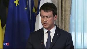 """Attaques de Bruxelles : Valls a """"une pensée pour toutes les victimes"""""""
