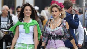 Sarah Jessica Parker et Kristin Davis sur le tournage de Sex and the City 2