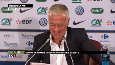 Didier Deschamps annonce les joueurs retenus pour le match contre l'Espagne