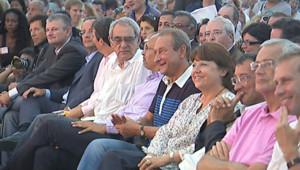 Quelques ténors du PS à l'université d'été de La Rochelle (27 août 2010)