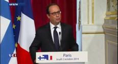 """1% de croissance en 2015 : """"Réaliste"""" pour Hollande"""
