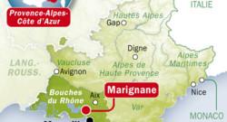 carte IDE avec localisation de Marignane