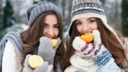 hiver alimentation orange femme