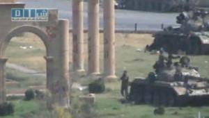 Image amateur prise à Hama (Syrie) début août 2011.
