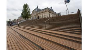 L'emmarchement devant le Musée d'Orsay.