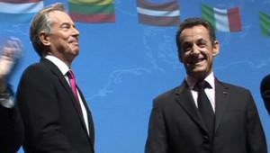 Tony Blair et Nicolas Sarkozy au Conseil national de l'UMP