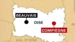 Carte Oise Compiègne