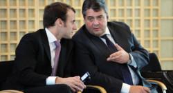Emmanuel Macron et son homologue allemand Sigmar Gabriel