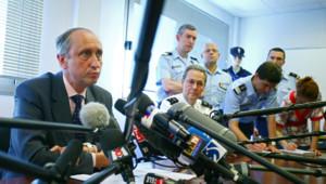 Le procureur Courroye lors d'une conférence de presse