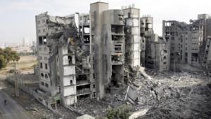Un bâtiment du Hamas à Gaza, détruit par les raids israéliens, le 30 décembre 2008