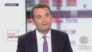 Florian Philippot sur France 2, le 23 août 2013.