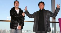 Jackie Chan et son fils Jaycee en avril 2009 à Pékin