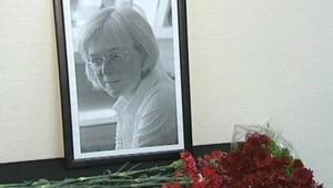 TF1/LCI : La photo de la journaliste russe assassinée Anna Politkovskaïa à la rédaction de son journal