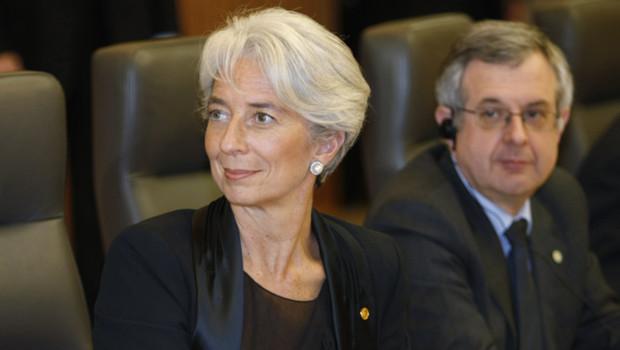 Xavier Musca derrière Christine Lagarde