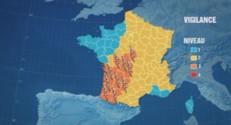 Des orages vont toucher 17 départements du sud-ouest